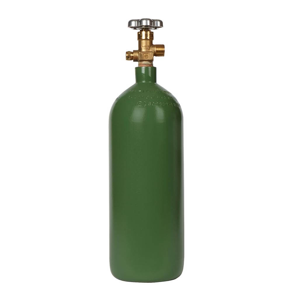 All Safe Global 20 Cubic Foot Steel Industrial Compressed Gas Cylinder