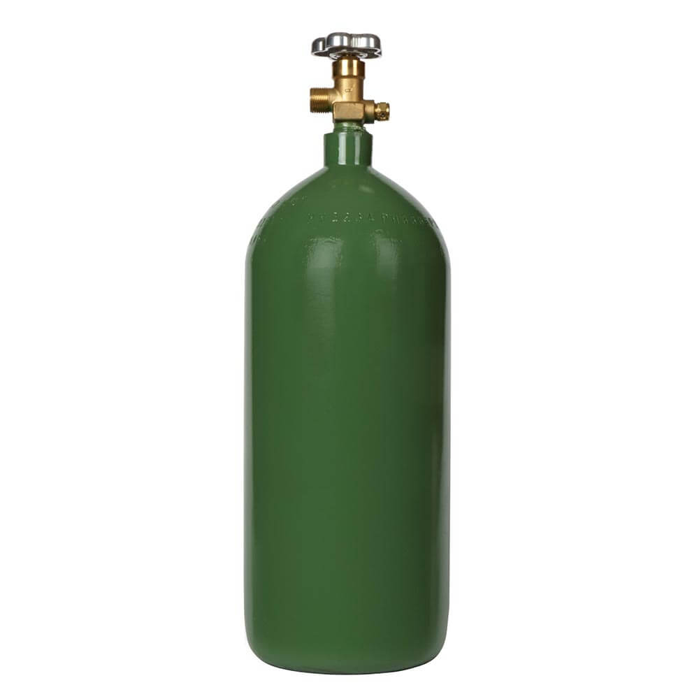 All Safe Global 40 Cubic Foot Steel Industrial Compressed Gas Cylinder