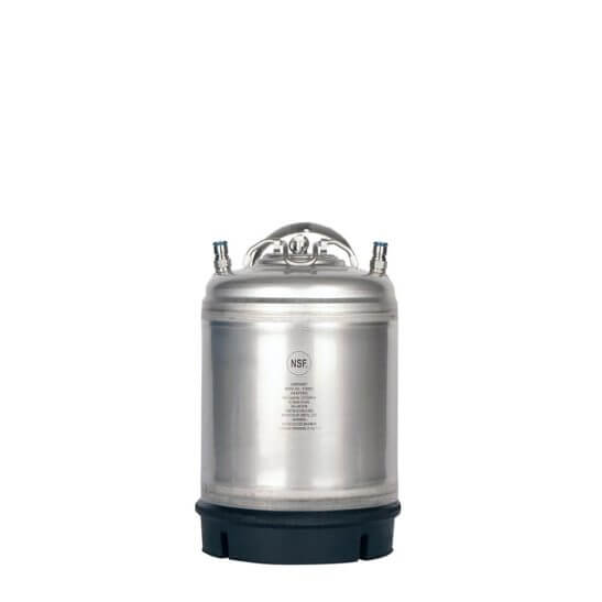 All Safe Global Amcyl Single Handle 2.5 Gallon Ball Lock Keg