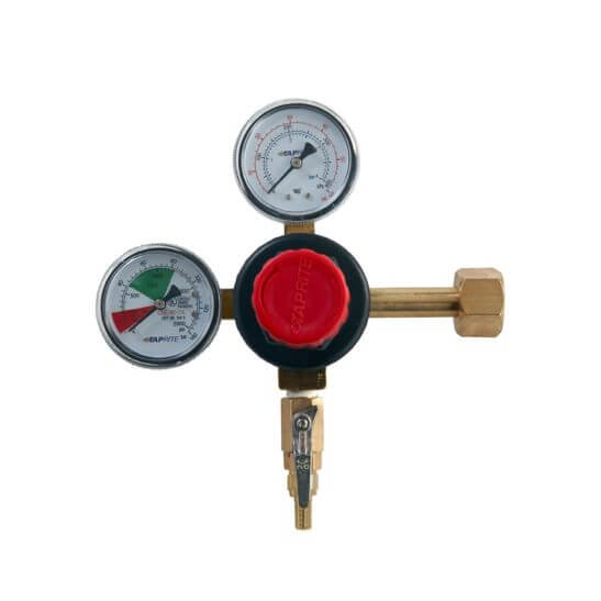 All Safe Global Dual Gauge CO2 Regulator Barb Outlet