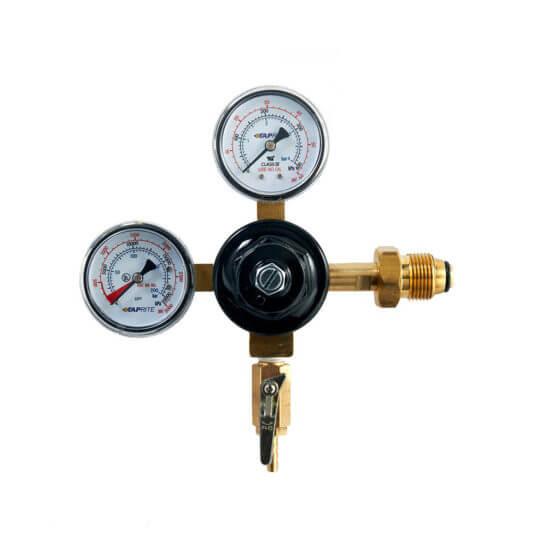 """All Safe Global Dual Gauge Nitrogen Regulator 1/4"""" Output"""