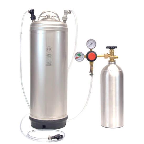 All Safe Global Keg Kit 1 New 5 Gallon Ball Lock Keg 5 Lb CO2