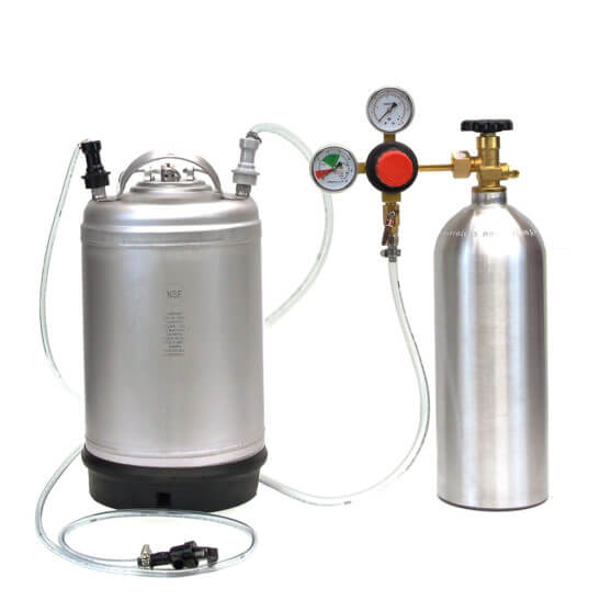 All Safe Global Keg Kit 6 New 3 Gallon Ball Lock Keg 5 Lb CO2