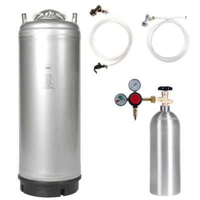 All Safe Global Keg Kit 1 New 5 Gallon Ball Lock Keg 5 Lb CO2