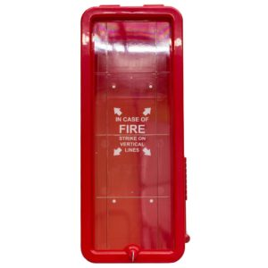 All Safe Global Red 5 lb Fire Extinguisher Cabinet - Front
