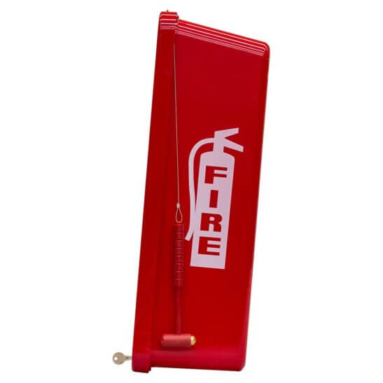All Safe Global Red 5 lb Fire Extinguisher Cabinet - Side