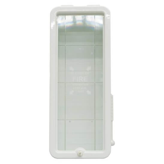 All Safe Global White 5 lb Fire Extinguisher Cabinet - Front