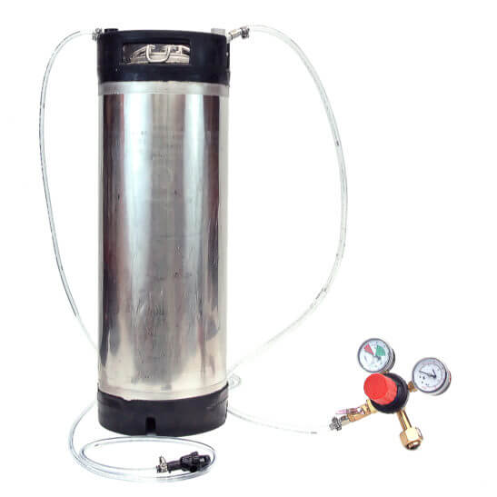 All Safe Global Keg Kit 7 5 Gallon Ball Lock Keg Regulator No CO2 Cylinder