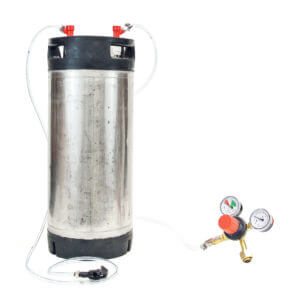 All Safe Global Keg Kit 7 5 Gallon Pin Lock Keg Regulator No CO2 Cylinder