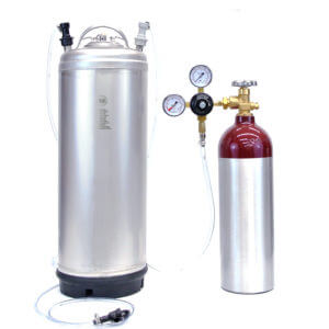 All Safe Global Keg Kit 8 New 5 Gallon Ball Lock Keg New 22 Cu Ft Nitrogen Tank