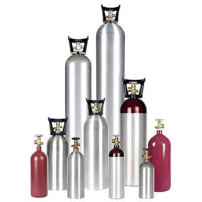 All Safe Global homebrew gas cylinders
