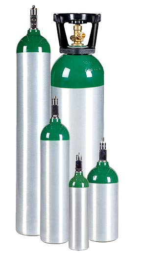 All Safe Global medical oxygen cylinder family