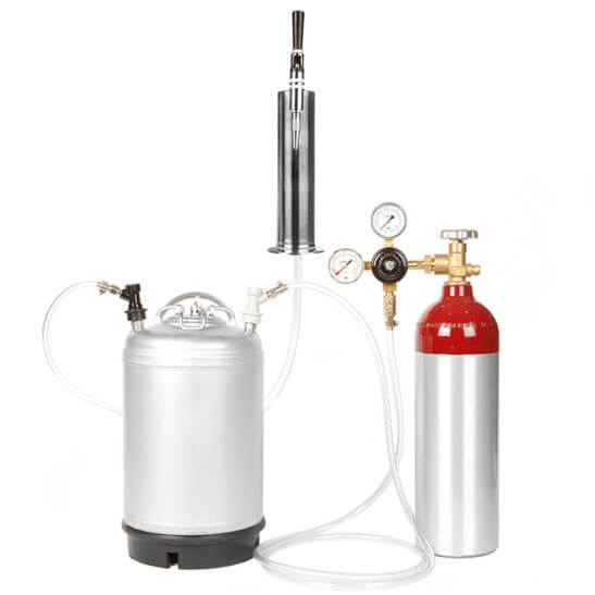 All Safe Global Nitro Coffee Cold Brew Coffee Stout Beer Kit 3 Gallon Keg 22 cf Nitrogen Stout Tap