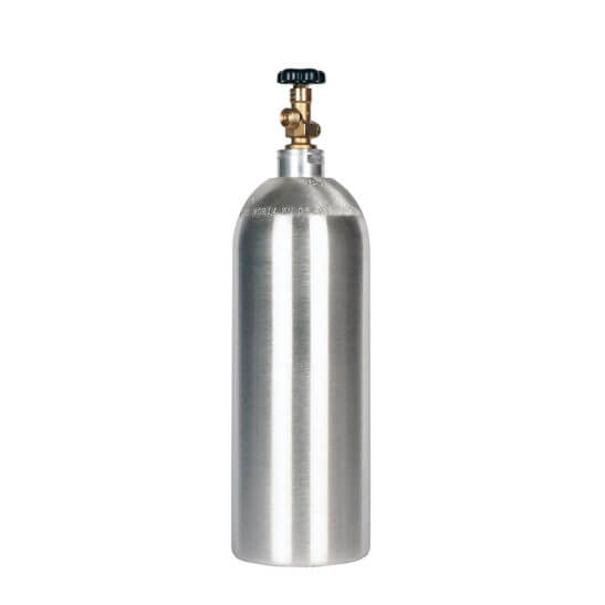 All Safe Global 20 Cubic Foot Aluminum Nitrogen Argon Helium Cylinder CGA580 Valve