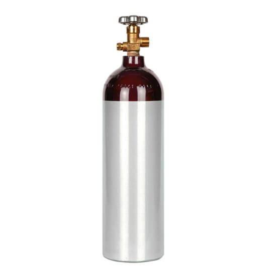All Safe Global 22 Cubic Foot Nitrogen Argon Helium Cylinder CGA580 Valve