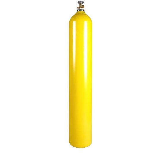 All Safe Global 300 Cubic Foot Steel Nitrogen Argon Helium Compressed Gas Cylinder CGA580 Valve