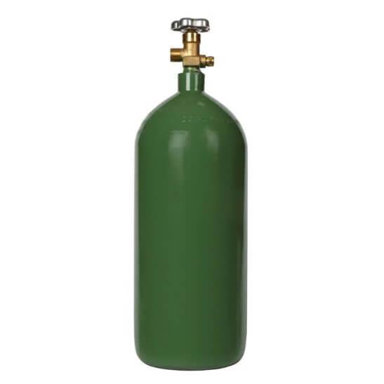 All Safe Global 40 Cubic Foot Steel Industrial Compressed Gas Cylinder