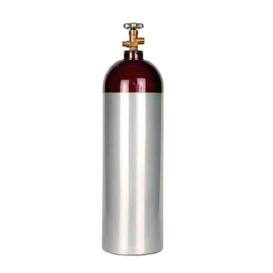 All Safe Global 60 Cu Ft Nitrogen Argon Helium Cylinder Aluminum CGA580 Valve