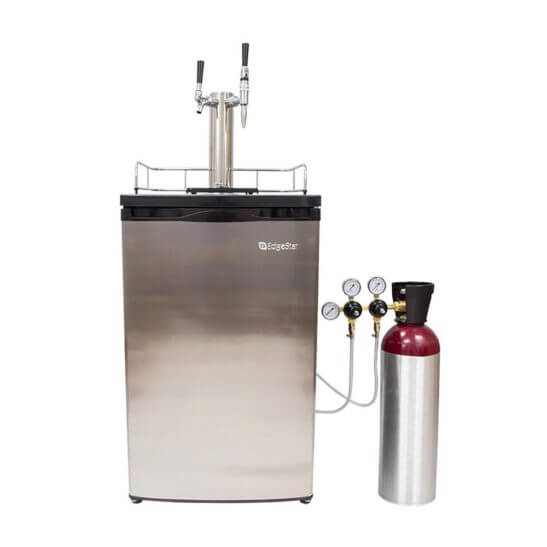 All Safe Global Nitro Coffee Cold Brew Coffee Stout Beer Kegerator Kit Two 3 Gallon Kegs 60 cf Nitrogen Dual Tap