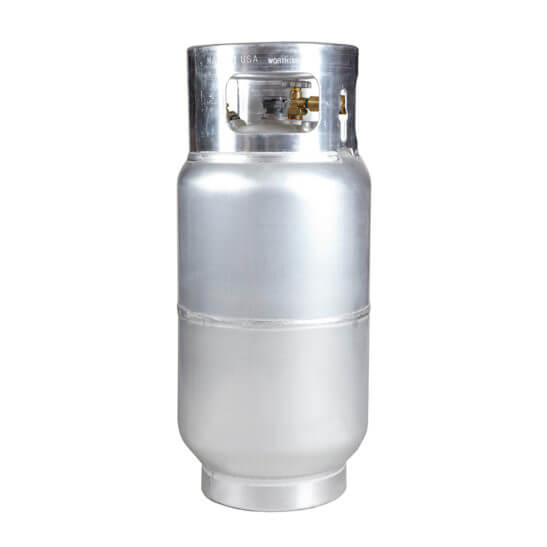 All Safe Global 33.5 Lb Aluminum Forklift Cylinder No Quick Fill Valve