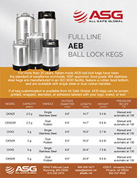 ASG AEB Ball Lock Kegs Spec Sheet