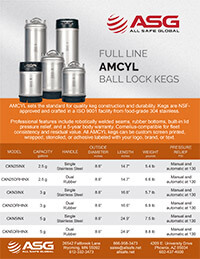 ASG AMCYL Ball Lock Kegs Spec Sheet