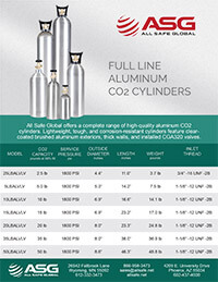 ASG Aluminum CO2 Cylinder Spec Sheet