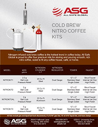 ASG Cold Brew Coffee Nitro Coffee Keg Kit Spec Sheet