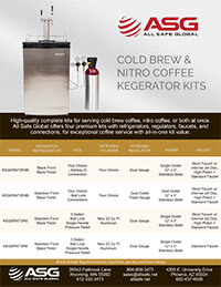ASG Cold Brew Coffee Nitro Coffee Kegerator Kit Spec Sheet